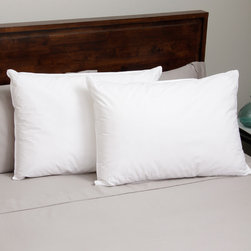 Hotel Madison - Hotel Madison 300 Thread Count Blended Fill Down Alternative Pillow (Set of 2) - This Hotel Madison 300 thread count pillow is filled with a blend of two down alternative fibers. The blend of fibers provide adjustable support while you move around at night.