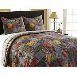 Caftan Reversible 3-piece Quilt Set -