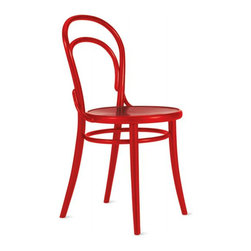 Ton - Era Chair | DWR - A traditional icon of French cafe culture, this chair spans all styles and eras. I especially love the fun colors that really give it a modern and eclectic twist. Create a classic dining set or mix and match for a funky spin — the Era Chair plays well with others.