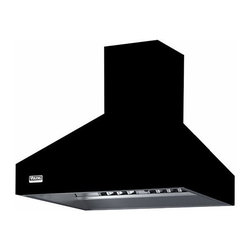 """Viking 48"""" Wall Mount Chimney Range Hood, Black 