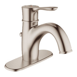 Grohe - Grohe 23306-EN0 Parkfield Series Single-Lever Bath Faucet - The Parkfield Series Single-Lever Bath Faucet (23306) Features Grohe'S Watercare Technology, Giving It A 1.5 Gpm Flow Rate, And Its Single-Hole Installation Allows You To Mount It In A Matter Of Minutes. Its Metal Lever Handle Allows For Precise Volume And Temperature Control, And It Comes With Grohe'S Silkmove Ceramic Cartridge For Long-Lasting Drip-Free Performance. It Also Features A Charming, Brushed Nickel Finish, Solid Brass Construction, An Adjustable Flow Rate Limiter, A pop-up Waste Set, Flexible Hose Connections, And A Built-In Escutcheon For A Beautiful, Finished Look.