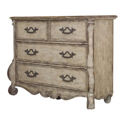 Hooker - Hooker Furniture Chatelet Media Drawer Chest in Antique Linen - Inspired by European farm style antiques, Chatelet is a whole home collection that redefines rustic luxury with a vintage charm. Come home to your little castle....Chatelet.