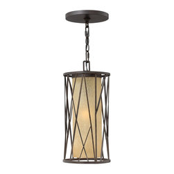 Hinkley Lighting - Hinkley Lighting 1152RB-GU24 Elm Outdoor - Elm's nature-inspired design offers an organic feel with hand-made sculptural detailing set against a backdrop of elegant distressed amber etched glass.