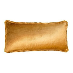 Squarefeathers - York, Ruffles Pillow - Give yourself a royal welcome when you come home to the York pillow collection. An elegant collection that shines in the light. It has a soft and pump feataher/down insert inclosed with a zipper. Like all of our products, this pillow is handmade, made to order exclusively in our studio right here in the USA.