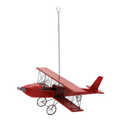 ecWorld - Weathered Wooden Replica Handcrafted Model Airplane - Antique Red - Admire the detail of this faithful airplane replica. Handcrafted in wood by unique artisans, this is a gorgeous work of art and a tribute to aviation history. Will make a stunning addition to any room decor.