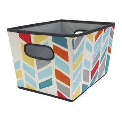 Room Essentials Med Tapered Bin, Chevron - Storage bins — I have many of them. However, I think my organizational skills would improve if I had storage bins that look like this one.