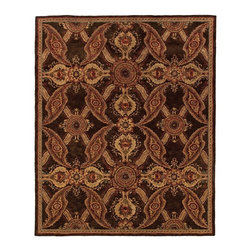 "Oriental Weavers - Contemporary Huntley Hallway Runner 2'3""x8' Runner Brown-Rust Area Rug - The Huntley area rug Collection offers an affordable assortment of Contemporary stylings. Huntley features a blend of natural Brown-Rust color. Handmade of Wool the Huntley Collection is an intriguing compliment to any decor."