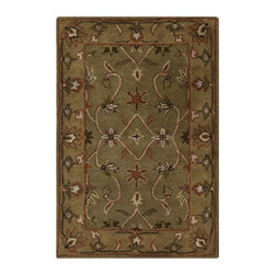 Surya - Surya Crowne Traditional Hand Tufted Wool Rug X-5121-1006NRC - With soft and beautiful traditional design details, the Crowne Collection creates a lasting centerpiece that is unparalleled in style and value. Completely hand tufted and hand finished from the finest wool in India, each rug is a radiant treasure that will embellish your home.