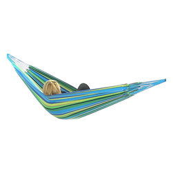 "Sunnydaze Decor - Cotton Hammocks in ""Cool"" Color Combinations, Sea Grass - Bed size: 80in long, 60in wide"