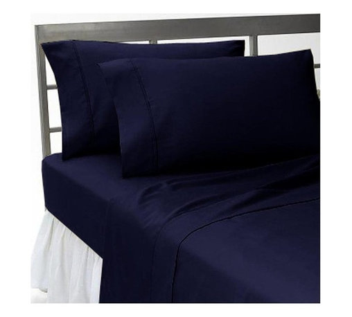 SCALAHG - 1000Tc Solid King Size Navy Blue Color Sheet Set - We offer supreme quality Egyptian Cotton bed linens with exclusive Italian Finishing. These soft, smooth and silky high quality and durable bed linens come to you at a very low price as these come directly from the manufacturer. We offer Italian finish on Egyptian cotton, which makes this product truly exclusive, and owner's pride. It's an experience and without it you are truly missing the luxury and comfort!!