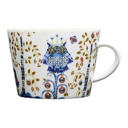 """Taika Coffee & Tea Collection Coffee/Tea Cup, 11.75oz - """"Magic"""" in Finnish, Taika lets you choose from a variety of bold and enchanting pieces. Haapaniemi's illustrations inspire your own imagination and storytelling. These fascinating designs gradually reveal their details and layers of meaning to the viewer. The magical pattern created by Klaus Haapaniemi has been combined with the shape of Aika-series designed by Heikki Orvo"""