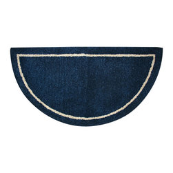 Uniflame - Uniflame R-4000 Deep Blue Hand-Tufted 100% Wool Hearth Rug - Deep Blue Hand-Tufted 100% Wool Hearth Rug belongs to Fireplace Accessories Collection by Uniflame