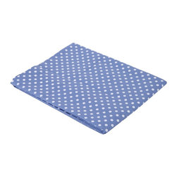 Bacati - Blue Pin Dots Crib fitted sheet - Bacati - Blue Pin Dots Crib Fitted Sheet made from 100 % cotton percale fabric. It has blue pin dots print. Crib sheet has reinforced corners and elastic all around for secure fit. It is machine washable and gets softer with every wash. It coordinates well with Bacati Elephants Blue/Grey bedding collection. Cotton is a green fabric as it is renewable resource & biodegradable. Cotton is breathable making it more comfortable in extreme climates. Cotton is inherently soft delicate on skin of babies, durable & user friendly. Cottons gentle quality makes it appropriate for Babies with very sensitive skin or skin allergies.
