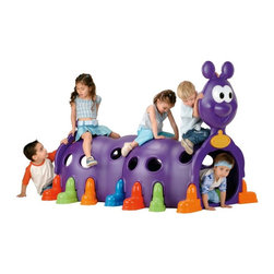 ECR4KIDS - ECR4KIDS Peek a Boo Caterpillar Multicolor - ELR-12511 - Shop for Swings Slides and Gyms from Hayneedle.com! Big fun that can fit in surprisingly small spaces the ECR4KIDS Peek a Boo Caterpillar encourages children to climb crawl and interact with each other through play. Crafted of heavy duty plastic in a deep purple color this caterpillar can be used indoors and out. Boot-shaped feet in a variety of colors keep this item stable and secure. The Happy Caterpillar is recommended for pre-school age children and requires some assembly. About Early Childhood ResourcesEarly Childhood Resources is a wholesale manufacturer of early childhood and educational products. It is committed to developing and distributing only the highest-quality products ensuring that these products represent the maximum value in the marketplace. Combining its responsibility to the community and its desire to be environmentally conscious Early Childhood Resources has eliminated almost all of its cardboard waste by implementing commercial Cardboard Shredding equipment in its facilities. You can be assured of maximum value with Early Childhood Resources.