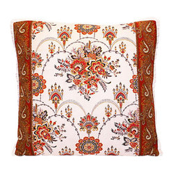Vintage French Floral Fabric Pillow