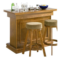 Coaster - Coaster Mitchell Bar Unit with Storage & Game Table in Oak Finish - Coaster - Home Bars - 100288 - Create a game room your guests will admire with the Mitchell collection. Featuring unique game tables comfortable game chairs bars and bar stools this collection will establish a fun and inviting environment. With solid oak construction for durability this group is available in either a cherry or oak finish to accommodate your stylistic needs.