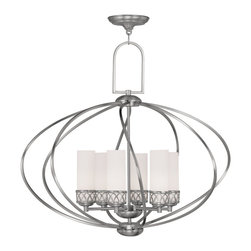 Livex Lighting - Livex Lighting 4726-91 Chandelier - Glass Type/Shade Type: Seeded Glass
