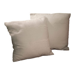 "Best Selling Home Decor - 16.5"" Light Green Jacquard Pillows (Set of 2) - Give your home an update with this attractive pillow set. These pillows feature a linen blend cover for soft elegance. Set includes: Two pillows; Pattern: Waves; Color options: Light Green; Cover closure: Hidden zipper closure; Edging: Knife edge; Pillow shape: Square; Dimensions: 16.5 inches wide x 16.5 inches long; Cover: Linen Blend; Fill: 100-percent Polyester; Care instructions: Spot clean with a damp cloth."