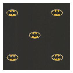 York Wallcoverings - Black Batman Logo DC Comics Accent Decor Wallpaper Roll - Features: