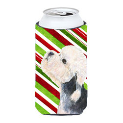 Caroline's Treasures - Dandie Dinmont Terrier Candy Cane Holiday Christmas Tall Boy Koozie Hugger - Dandie Dinmont Terrier Candy Cane Holiday Christmas Tall Boy Koozie Hugger Fits 22 oz. to 24 oz. cans or pint bottles. Great collapsible koozie for Energy Drinks or large Iced Tea beverages. Great to keep track of your beverage and add a bit of flair to a gathering. Match with one of the insulated coolers or coasters for a nice gift pack. Wash the hugger in your dishwasher or clothes washer. Design will not come off.