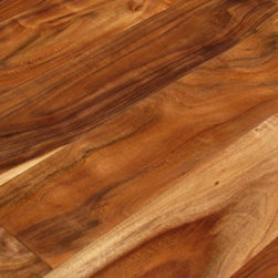 "Elegance Plyquet - Acacia Walnut Solid Hand Scraped Hardwood Wood Floor- Sample 8"" x 5"" - This listing is for 2 piece of wood floor samples (8"" x 5"")"