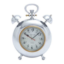 "Benzara - Beautiful Metal Clock with Display Numbers and Snooze Buttons - Beautiful Metal Clock with Display Numbers and Snooze Buttons. Besides helping you keep an accurate sense of time, this is a worthy home decor item. It comes with following dimensions 10""W x 6""D x 12""H."