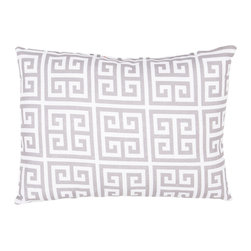 """Jaipur Rugs - Gray/Ivory color polyester towers poly fill pillow 13""""x18"""" - These fashion forward pillows, in trellis, stripes and whimsical patterns are for both indoor and outdoor use."""