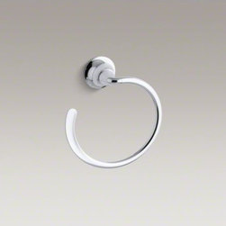 KOHLER - KOHLER Fort�(R) sculpted towel ring - The sleek appeal of Fort� Sculpted accessories combines fluid design lines with practical solutions. This open-circle towel ring brings contemporary style to your bath or powder room.