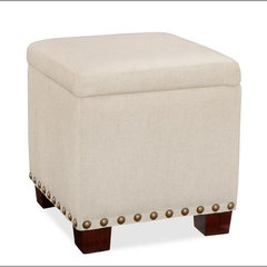 contemporary ottomans and cubes by Pottery Barn