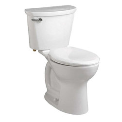 "American Standard - American Standard 215F.A104.020 Cadet Pro Round-Front 10"" Rough Toilet, White - American Standard 215F.A104.020 Cadet Pro Round-Front 10"" Rough Toilet, White. This vitreous china constructed round-front toilet meets EPA WaterSense criteria, a trade-exclusive tank, a PowerWash rim that scrubs the bowl with each flush, a robust metal left-sided trip lever/metal shank fill valve assembly, an EverClean surface, a 4"" piston-action Accelerator flush valve, a 10"" Rough-in, a chrome finish trip lever, and a fully-glazed 2-1/8"" trapway."