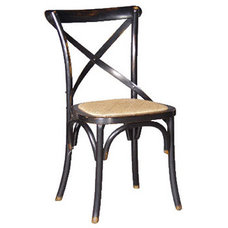 traditional dining chairs and benches French Oak Black Dining Chair