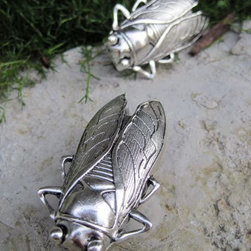 DaRosa Creations - Cicada Drawer / Cabinet Knob, Silver - Insect (Cicada) drawer knobs in Silver