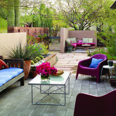 Southwest courtyard before and after < Outdoor Landscape Makeovers - Sunset.com