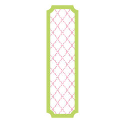 RoomMates - Pink and Lime Trellis Peel and Stick Deco Panel - Add a splash of color to any room with this pink and lime trellis decorative panel. Great for any room in your home, this removable and repositionable panel is quick and easy to install. To install, peel the decal from the liner and smooth onto any flat surface.�