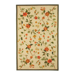 """Safavieh - Chelsea Rug, Ivory, 8' 9"""" x 11' 9"""" - 100% pure virgin wool pile, hand-hooked to a durable cotton backing. American Country and turn-of-the-century European designs. Th'scollection is handmade in China exclusively for Safavieh."""