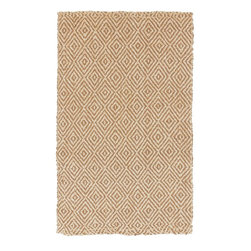 Surya - Surya Natural Fiber Reeds Tan  white 5'x8' Rectangle Area Rug - The Reeds area rug Collection offers an affordable assortment of Natural Fiber stylings. Reeds features a blend of natural Coffee Bean color. Handmade of 100% Jute the Reeds Collection is an intriguing compliment to any decor.