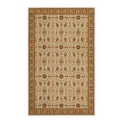 Safavieh - Transitional Treasures 4'x6' Rectangle Ivory-Caramel Area Rug - The Treasures area rug Collection offers an affordable assortment of Transitional stylings. Treasures features a blend of natural Ivory-Caramel color. Machine Made of Polypropylene the Treasures Collection is an intriguing compliment to any decor.