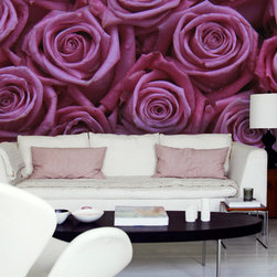 """The Secret Garden - """"Pink Roses"""" - Wall Mural from the collection """"The Secret Garden"""" by PIXERS"""