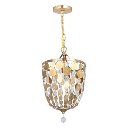 Crystorama Lighting - Crystorama Lighting 560-GA Bella Eclectic Pendant in Antique Gold - Crystorama Lighting 560-GA Bella Eclectic Pendant In Antique Gold With Metal Lenses + Hand Cut Crystal