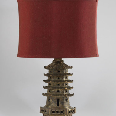 "Cyan Design - Pagoda Table Lamp 02575 - Pagoda Table Lamp 02575, 30.50"" Tall x 17.25"" Wide, $345.99"