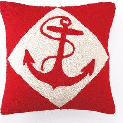 RR - Red Nautical Hook Pillow - Red Nautical Hook Pillow