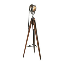 Half Mile Ray Searchlight - Authentic Models. Mahogany. 24w x 24d x 65h. Available for order at Warehouse 74.