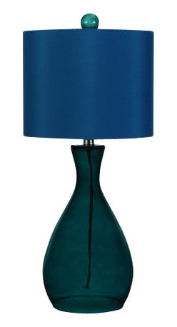 "AF Lighting - AF Lighting 8518 Sea Blue Single Light Hand Blown Glass Table Lamp Ange - AF Lighting 8518 Single Light Table Lamp from the Angelo Home CollectionThis fixture is designed by Angelo Surmelis from ""angelo : Home"". He is a world class designer who is known for his unique hand crafted work, and has been on many television shows for HGTV and TLC. AF Lighting and Angelo have partnered to create an entire collection of fixtures that are designed by Angelo. The collection of stylish and affordable fixtures is committed to quality, value and ease. From the hand crafted details to the no fuss assembly, the Angelo Home collection will add style to any room in the home.Features:"