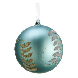Silk Plants Direct - Glass Leaf-Swag-Pattern Ball Ornaments, Pack of 6 - Pack of 6. Silk Plants Direct specializes in manufacturing, design and supply of the most life-like, premium quality artificial plants, trees, flowers, arrangements, topiaries and containers for home, office and commercial use. Our Glass Leaf Swag Pattern Ball Ornament includes the following: