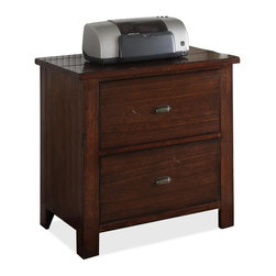 Riverside Furniture - Castlewood Lateral File Cabinet - Two file drawers with dovetail construction, and ball bearing extension guides accept letter or legal size files.