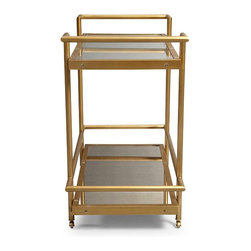 Vitale Bar Cart - I love anything gold, and this bar cart certainly caught my eye. You could even place it in your bedroom when you are not entertaining.