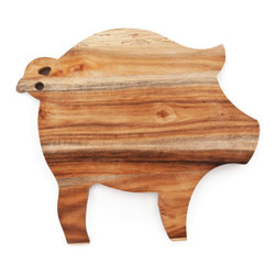 Piglet Cheese Board - The Bay Area is undeniably bacon crazy. And why shouldn't we be? We get some of the best meats from our local California farmers. Even if you're not a meat eater, you'll enjoy this beautiful pig-shaped cheese board. Choose your favorite cheeses to  place on the acacia board--your eyes and your taste buds will thank you.
