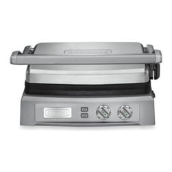 Cuisinart - Cuisinart Griddler Deluxe - Take all-year grilling to new heights with the Griddler Deluxe from Cuisinart. It offers 6 convenient cooking options, reversible grill and griddle plates, plus dual-zone temperature control to transform any home chef to a grill master.