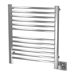 Amba - Ladder 29x33 Electric Heated Towel Warmer, Brushed - Dual-purpose radiator functions as towel warmer and space heater