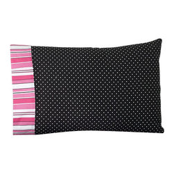 Sweet Jojo Designs - Madison Children's Sheet Set Twin (3 Pc.) - The Madison Children's sheet set will help complete the look of your Sweet Jojo Designs room. This black and white mini polka dot print with stripe trim sheet set is available in a Twin and Queen Size and is machine washable for easy care.